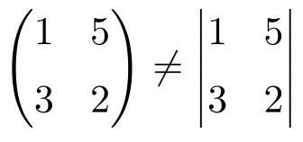 cuales son las diferencias entre las matrices y los determinantes